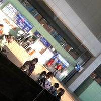 Photo taken at Bus Stop No.8, Terminal 1 by YAS T. on 3/17/2018