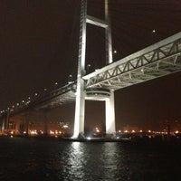 Photo taken at Yokohama Bay Bridge by turbo+ on 10/28/2012