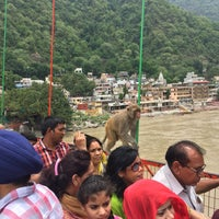 Photo taken at Lakshman Jhula | लक्ष्मण झूला by Choonghyun L. on 6/27/2017