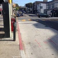 Photo taken at MUNI Bus Stop - Divisadero & California by Rich W. on 5/21/2014
