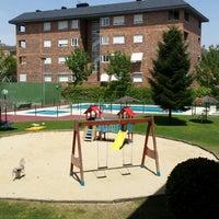 Photo taken at En la piscina. by Jesus G. on 7/17/2014