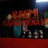 Photo taken at Bakmi Sabar Menanti by Eko N. on 12/30/2013