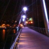 Photo taken at Hungerford & Golden Jubilee Bridges by Igor S. on 10/14/2012