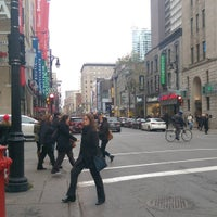 Photo taken at Hotel Ste Catherine Montreal by Roy W. on 11/11/2015