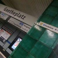 Photo taken at U Goetheplatz by Kerstin on 9/29/2015