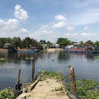 Photo taken at Phà An Phú Đông by Tri B. on 3/18/2017
