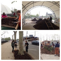 Photo taken at Red Hook Community Farm by Gil L. on 5/9/2015