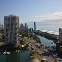 Photo taken at Surfers Paradise Marriott Resort & Spa by Grantly A. on 9/28/2012