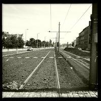 Photo taken at Hradčanská (tram) by David S. on 7/24/2013