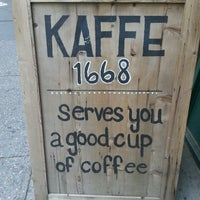 Photo taken at Kaffe 1668 by Joseph C. on 6/24/2014