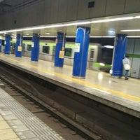 Photo taken at 岩本町駅 1-2番線ホーム by mona c. on 6/2/2018
