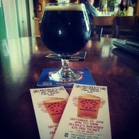 Photo taken at People's Brewing Company by Aaron M. on 9/28/2012