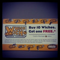 Photo taken at Which Wich Superior Sandwiches by Lindsay T. on 2/26/2013
