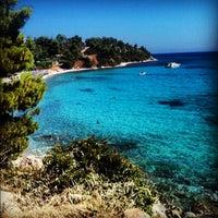 Photo taken at Koviou Beach by Ηλίας on 7/24/2012