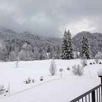 Photo taken at Badehaus Schloss Elmau by Michael G. on 1/12/2013