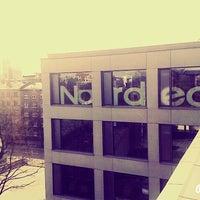 Photo taken at Nordea Bank AB Latvijas filiāle   Nordea māja by Liega M. on 4/15/2015