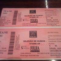 Photo taken at Teatro Folha by Giselle M. on 11/25/2012