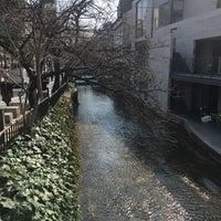 Photo taken at 高瀬川 by joyman W. on 3/3/2016