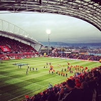 Photo taken at Thomond Park by Stephen O. on 4/13/2013