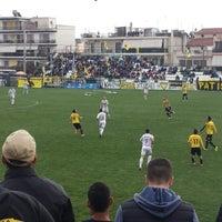 Photo taken at Γήπεδο Αχαρναϊκού by Panos K. on 3/16/2014