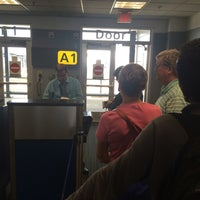 Photo taken at Gate A1 by Ric M. on 8/14/2014