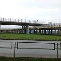 Photo taken at Dienvidu tilta Slāvu aplis by Janis V. on 11/16/2012