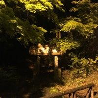 Photo taken at 牧水の滝 by 八津 谷. on 4/17/2018