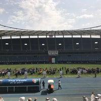 Photo taken at Jaber AlAhmad International Stadium by Kwr🇰🇼 on 3/8/2017