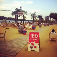 Photo taken at Mainz Strand by Pablo Q. on 8/3/2013
