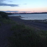 Photo taken at Plage Jacques Cartier by Marie S. on 7/18/2014