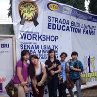 Photo taken at Strada Budi Luhur by Clara P. on 1/26/2013
