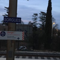 Photo taken at Gare SNCF de Sorgues - Châteauneuf-du-Pape by K.E. W. on 3/13/2015