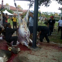 Photo taken at Kompleks Islam Jubli Perak Sultan Ismail Petra by Afiq F. on 10/27/2012