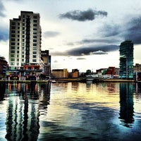 Photo taken at Grand Canal Dock by Christian H. on 1/8/2013