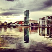 Photo taken at Grand Canal Dock by Christian H. on 2/1/2013