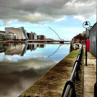 Photo taken at The River Liffey by Christian H. on 2/15/2013