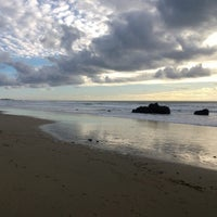 Photo taken at Gazos Creek Beach by Mila H. on 12/15/2014