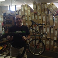 Photo taken at Crazy Cat Cyclery   Redd Rock by Marty B. on 10/12/2013