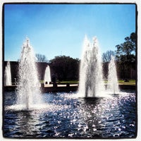 Photo taken at Cullen Fountain by Stacey H. on 2/14/2013
