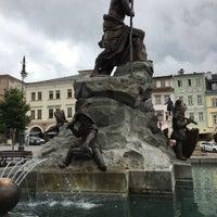 Photo taken at Krakonošovo náměstí by Martin K. on 8/19/2017