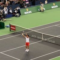 Photo taken at Shanghai Rolex Masters - Stadium Court by Omi on 10/13/2018