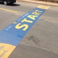 Photo taken at Boston Marathon Start Line by Camilo C. on 4/21/2014
