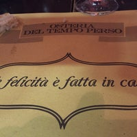 Photo taken at Osteria del Tempo Perso by Marco B. on 1/16/2015