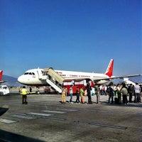 Photo taken at Tribhuvan International Airport (KTM) by Raúl V. on 3/3/2013