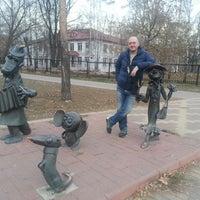 Photo taken at Скульптуры Чебурашка, Крокодил Гена и Шапокляк by Ekaterina K. on 10/25/2014