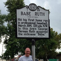 Photo taken at Babe Ruth Marker by Rob A. on 8/23/2014