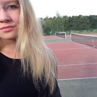 Photo taken at Impivaaran Tenniskenttä by Milla R. on 8/22/2014