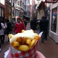 Photo taken at Vlaams Friteshuis Vleminckx by Brian C. on 4/27/2013