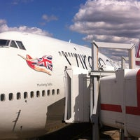 Photo taken at Virgin Atlantic Flight VS45 by Brian C. on 8/11/2013