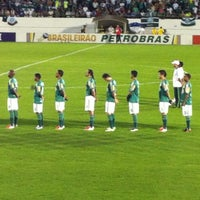 Photo taken at Estádio Doutor Adhemar Pereira de Barros (Arena da Fonte) by Monique R. on 10/21/2012
